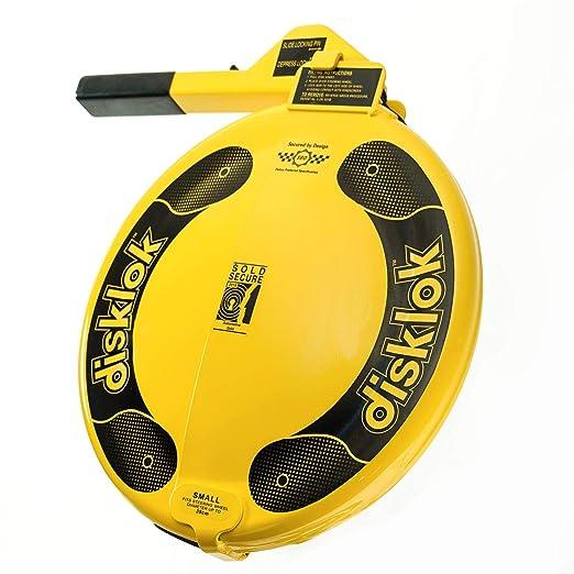f35904daf6d44b Disklok Yellow Steering Wheel Full Cover Yellow Security Lock Thatcham  Approved (Medium