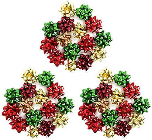 "Set of 45 Berwick High Quality Beautiful Gift Bows! Peel 'N Stick - 3"" Medium Beautiful Colors and Patterns Perfect for Adding a Unique Touch of Flair and Personalizing your Gifts! (45)"