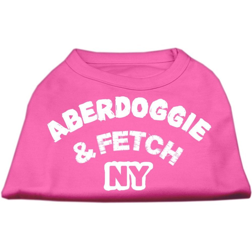 Bright Pink Dog   Cat   Pet Charms Aberdoggie NY Screenprint Shirts Bright Pink Med (12)