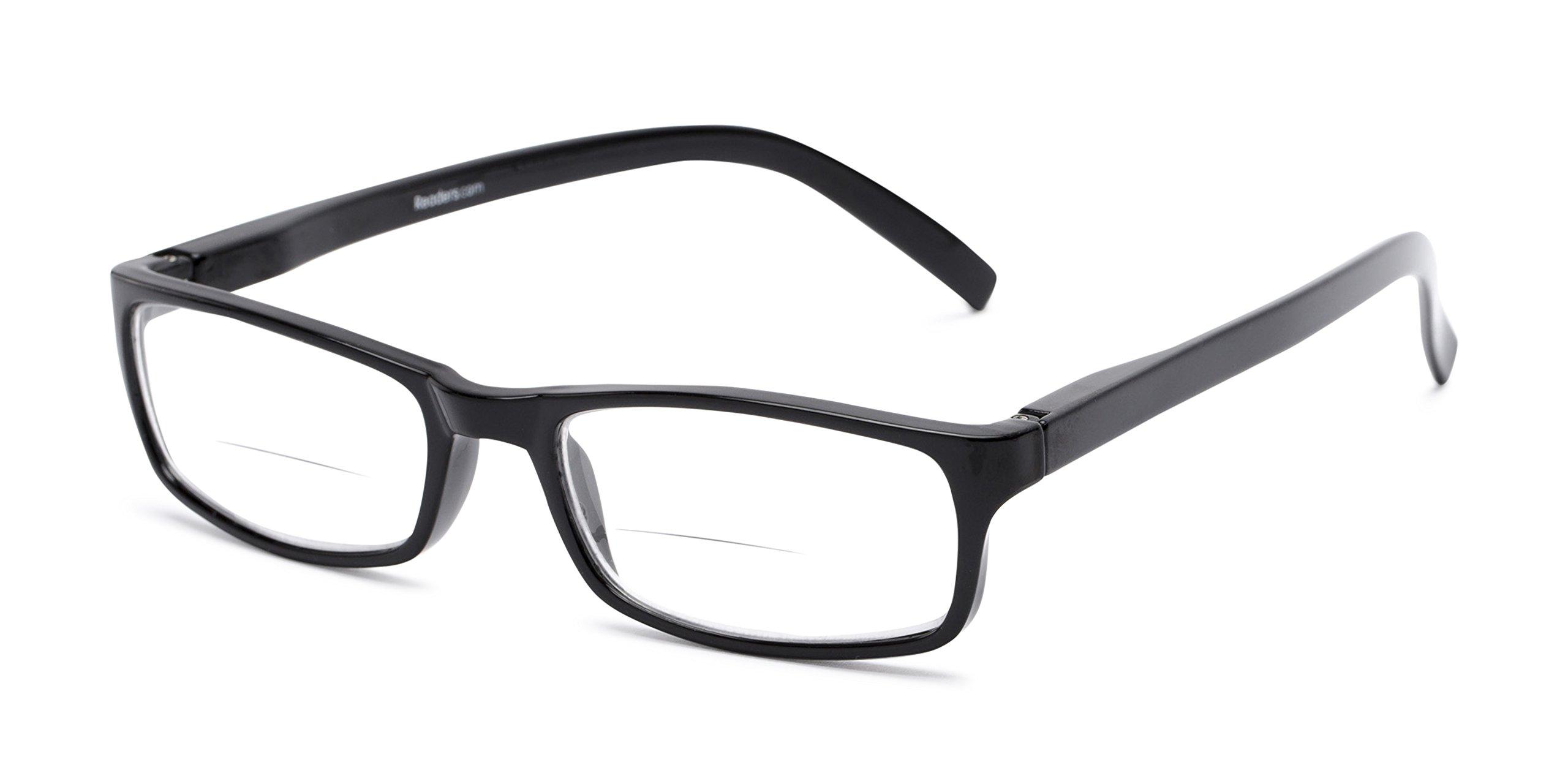Readers.com   The Vancouver Bifocal +1.50 Black Reading Glasses
