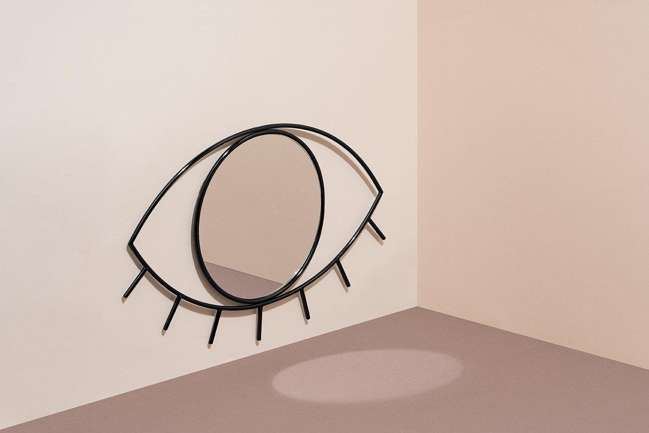 Zuiver Leaning Spiegel : Amazon cyclops eye wandspiegel spiegel aus glas und stahl