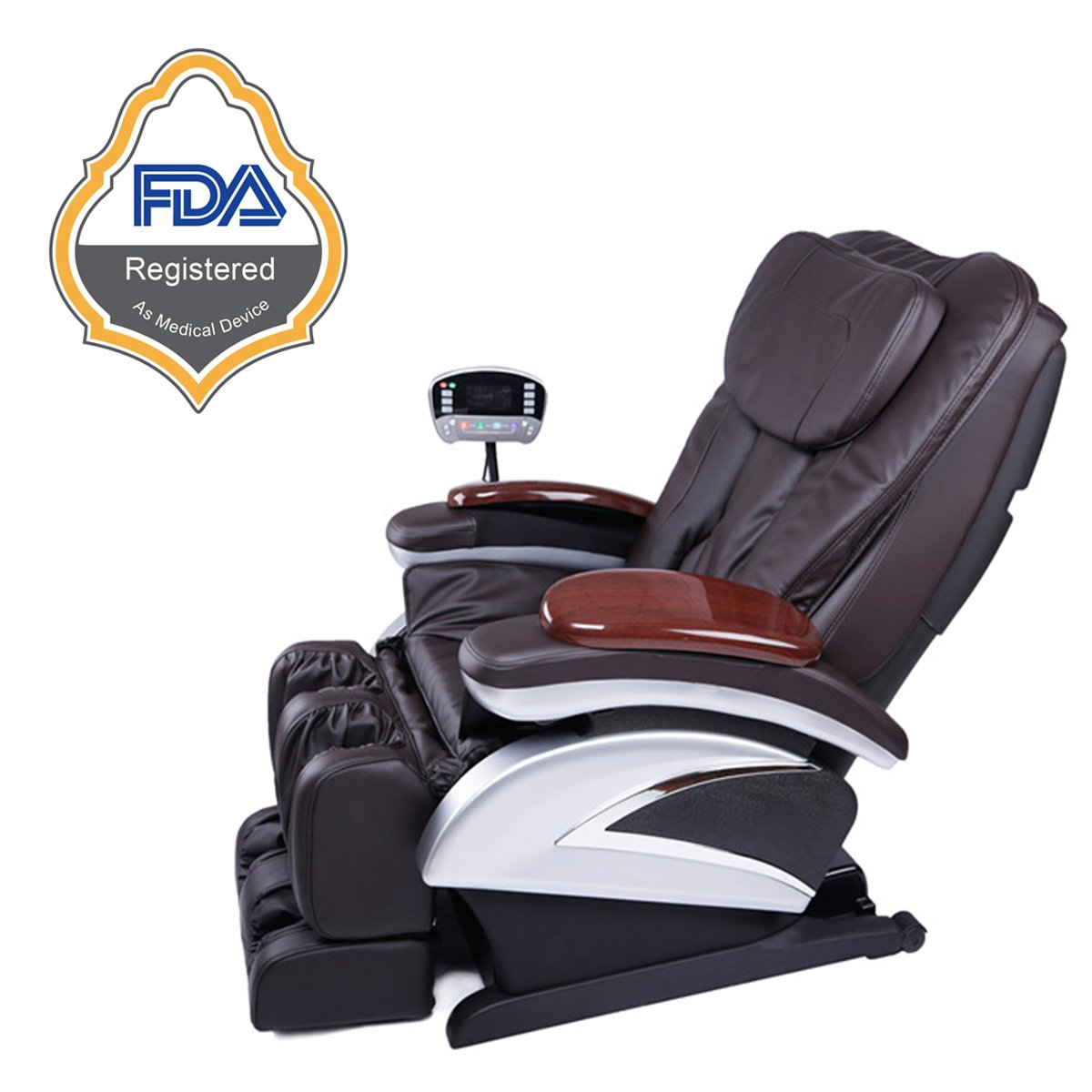 Professional massage chairs - Amazon Com Electric Full Body Shiatsu Massage Chair Recliner W Heat Stretched Foot Rest 06c Black Health Personal Care