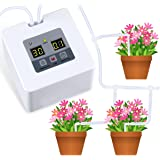 "DIY Micro Automatic Drip Irrigation Kit, Self Watering System with 30-Day Electronic Water Timer, 5V USB Charge for 10 Indoor Potted Plants,1/4"" Tubing 33ft"