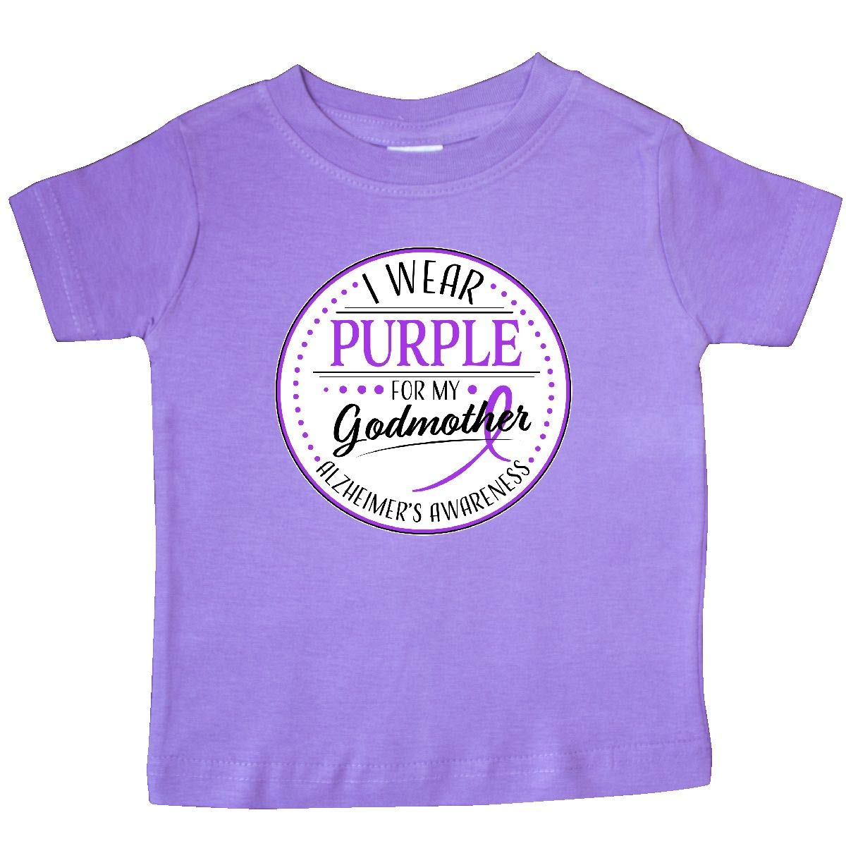 Alzheimers Awareness Baby T-Shirt inktastic I Wear Purple for My Godmother