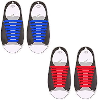 Makes Any Sneaker a Quick No Tie Shoelaces for Kids /& Adults Elastic /& Silicone Shoe Laces to Replace Your Shoe Strings Comfy Slip On