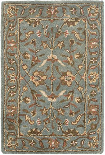 Safavieh Heritage Collection HG969A Handcrafted Traditional Oriental Blue Wool Area Rug 2 x 3