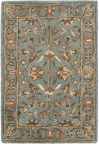 Safavieh Heritage Collection HG969A Handcrafted Traditional Oriental Blue Wool Area Rug 3 x 5