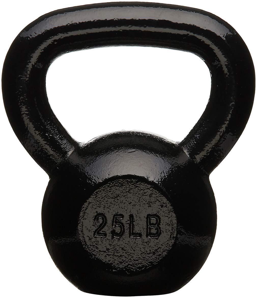 AmazonBasics Enamel Kettlebell, 25 lb