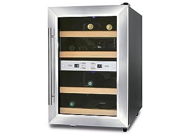 Caso Profi Weinkühlschrank für 12 Flaschen, 7-18° C, 2 getrennt ...