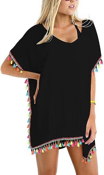 LADIES BEACH FASHION KAFTAN BIKINI SWIMWEAR SUMMER COVER UP DRESS VARIOUS COLORS