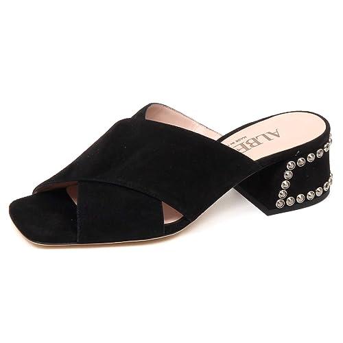 huge discount 1f92f eae9f ALBERTO GOZZI F1814 Sandalo Donna Black Scarpe Suede Shoe ...