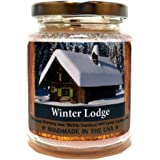 Winter Lodge Wood Wick, 8 oz Super Scented Natural Wax Candle