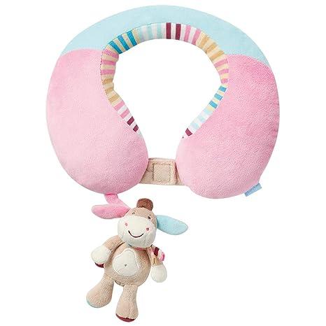 Monkey Donkey Fehn - Cojín cervical con burro de peluche