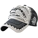 3b4aae77b5d MINAKOLIFE Vintage Distressed Washed Cotton Adjustable Baseball Cap Dad Hat