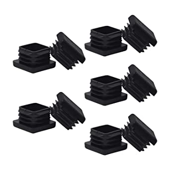 "1 3//4/"" Square Tubing Plastic Plug End Cap Fence Post Pipe Black Lot of 20"