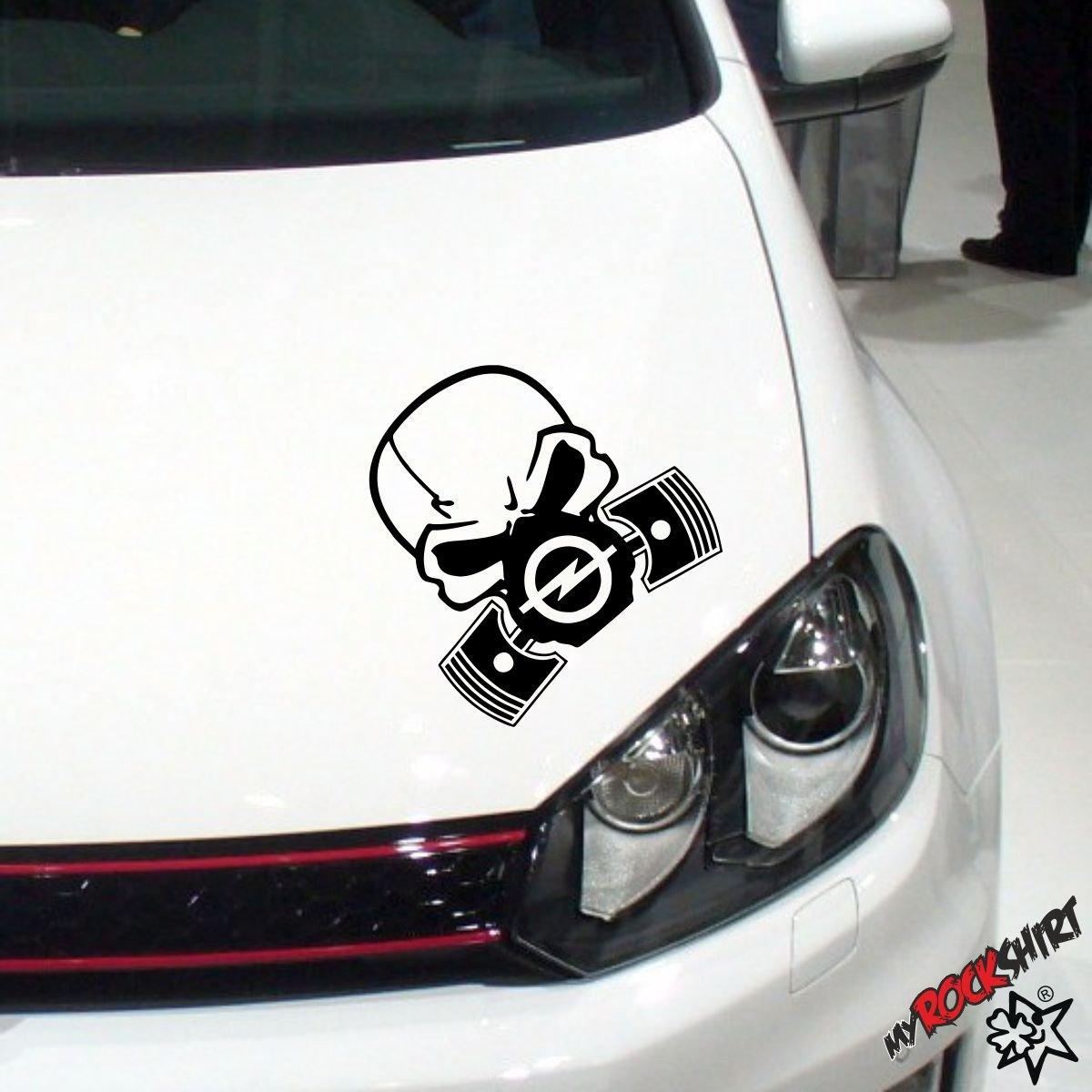 Totenkopf Opel Zylinder skull 20cm+ Bonus Testaufkleber Estrellina-Gl/ückstern /® gedruckte Montageanleitung von myrockshirt in einem stabilen Versandkarton,waschanlagenfest,Pro Versand erfolgt aus Deutschland innerhalb von maximal 48 Stunden