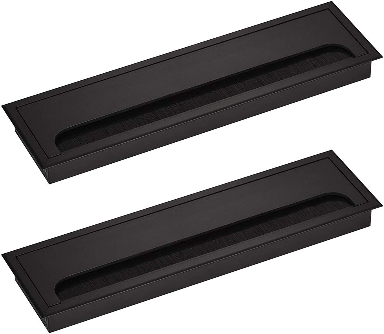 10 x 48mm Ventilation Trim for Desk//Table//Cable Tidy Hole Plug
