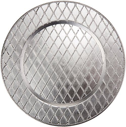 Charge It by Jay 1180255 Round Plaid Charger Plate