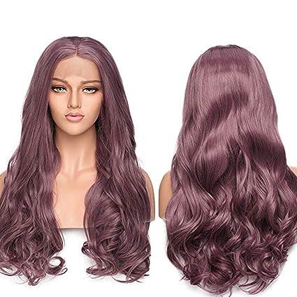 Lace Front Wig Pelucas Rizadas Largas Pelo Sintético Peluca de Encaje Frontal Se Ven Naturales para