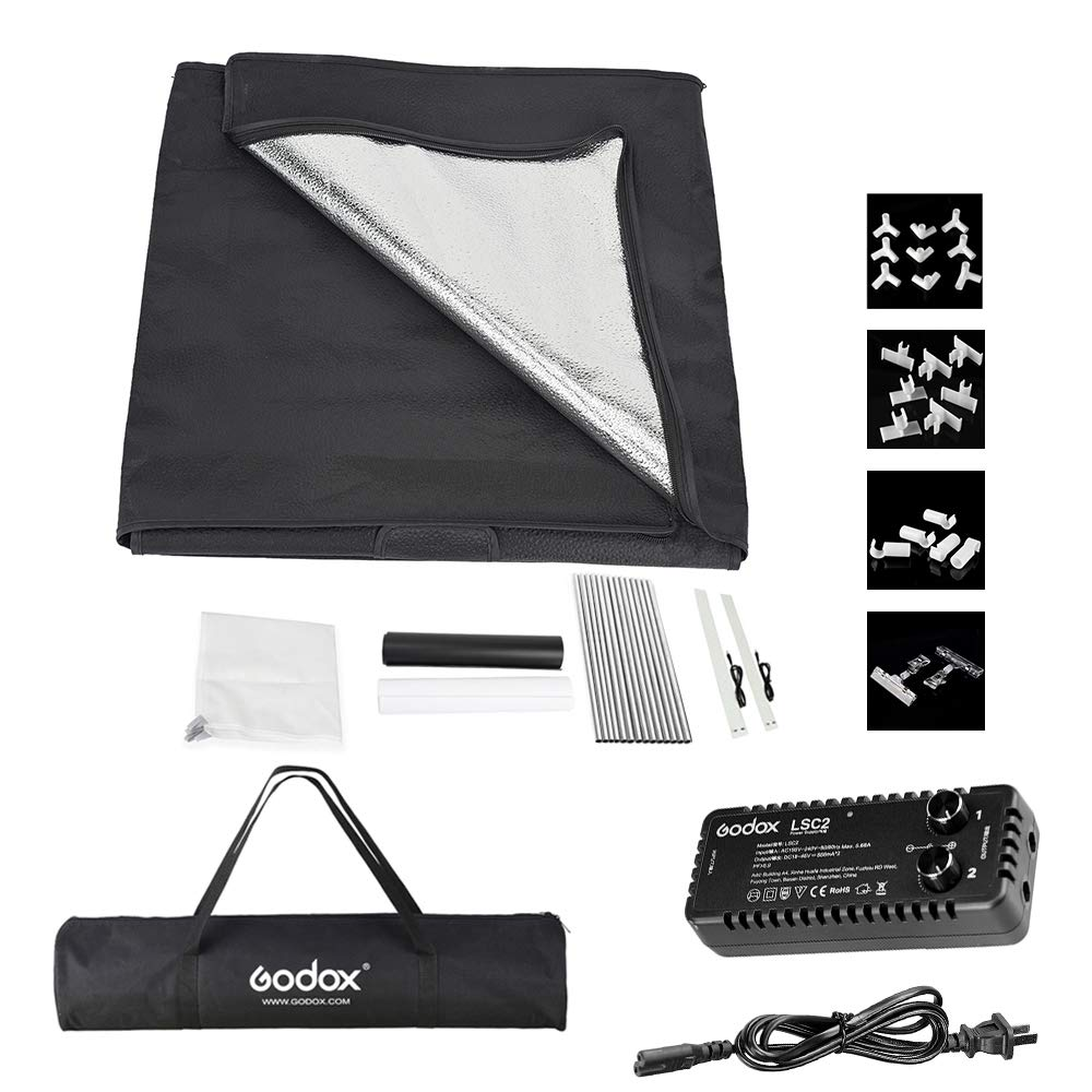 Godox LSD80 808080cm LED Mini Photography Studio Shooting Tent Softbox with 2pcs LED Light Board 5800K CRI 96+ Power 40W for Macro and Product Photography with Andoer Cleaning Cloth by Godox (Image #9)