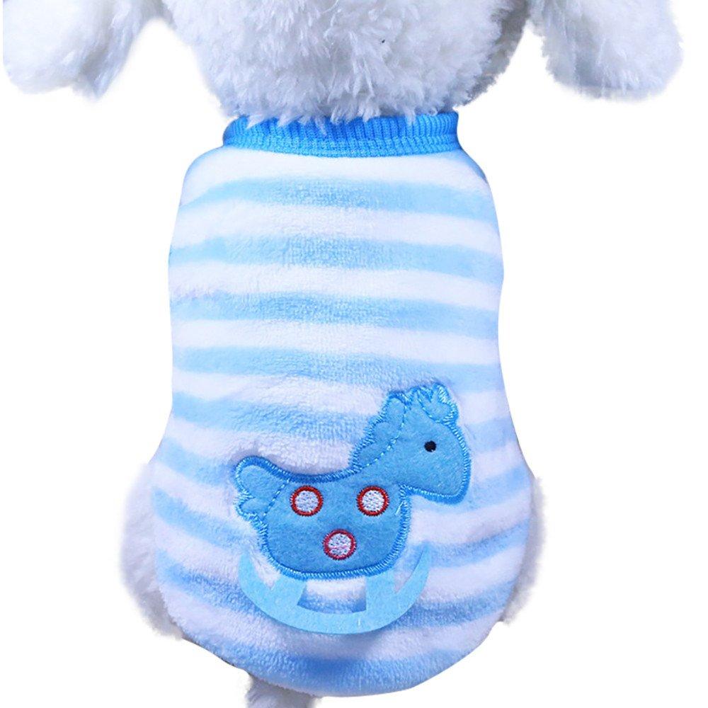 Chiot Chiens Vêtements,Mignon Chien Chat Chiot vêtements Pull Petite Chemise Chiot Animaux Doux Manteaux Chat,Manteau Habits pour Chien (L, Multicolore)