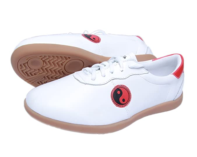 266a87427 ICNBUYS Men's Professional Kung Fu Tai Chi Shoes Soft Leather with Classic  Tai Chi Pattern Size EUR 41 UK 7: Amazon.co.uk: Shoes & Bags