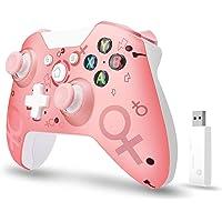 xuelili Controles sem fio para Xbox One, joystick de PC sem fio com adaptador sem fio de 2,4 GHz, compatível com Xbox…