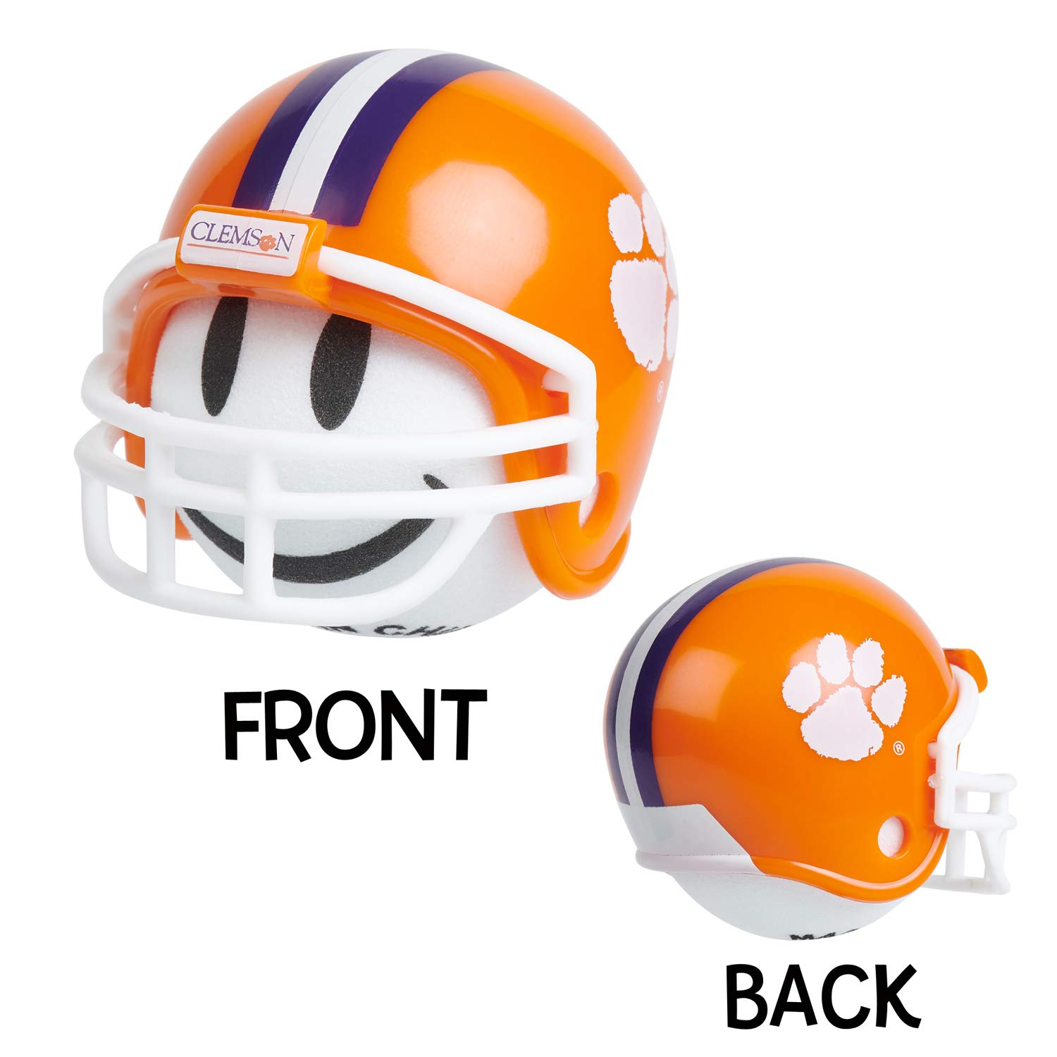 NCAA College Football Clemson Tigers Car Antenna Topper/Rear View Mirror Dangler + Free Happy Face Antenna Ball (White Smiley) (Auto Accessories)