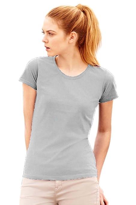 43 opinioni per Maglietta Maniche Corte Sagomata Donna Fruit Of The Loom T Shirt Cotone Lady Fit