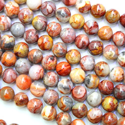 Crazy Lace Agate Round Beads - 3