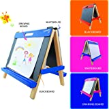 Mont Marte Deluxe Standing tabletop kids easels, Blue