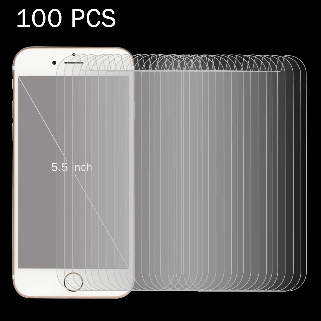 YINZHI Screen Protector Film 100 PCS 0.26mm 9H Surface Hardness 2.5D Explosion-Proof Tempered Glass Screen Film for 5.5 inch Mobile Phones Clear