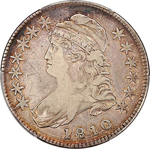 1810 P Bust Half Dollars Half Dollar 98 PCGS ()