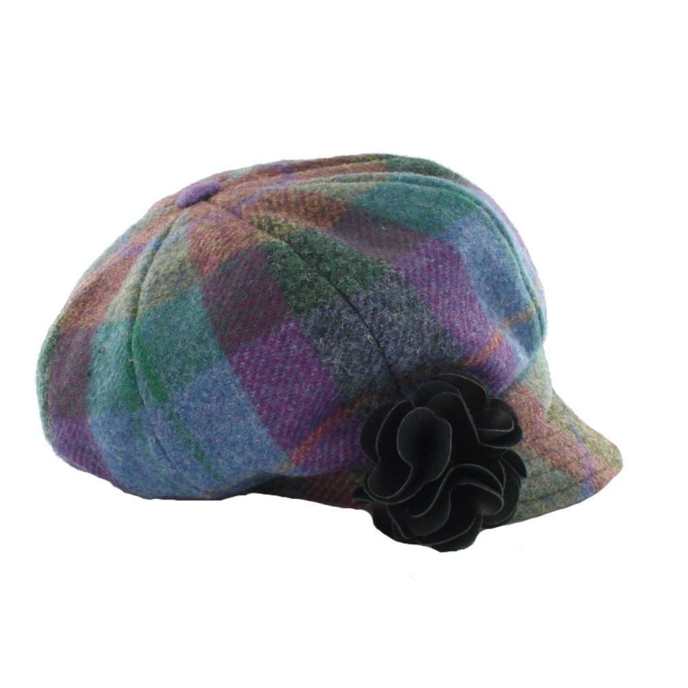 Mucros Irish Cap Green Cap Womens 100% Wool Made In Ireland