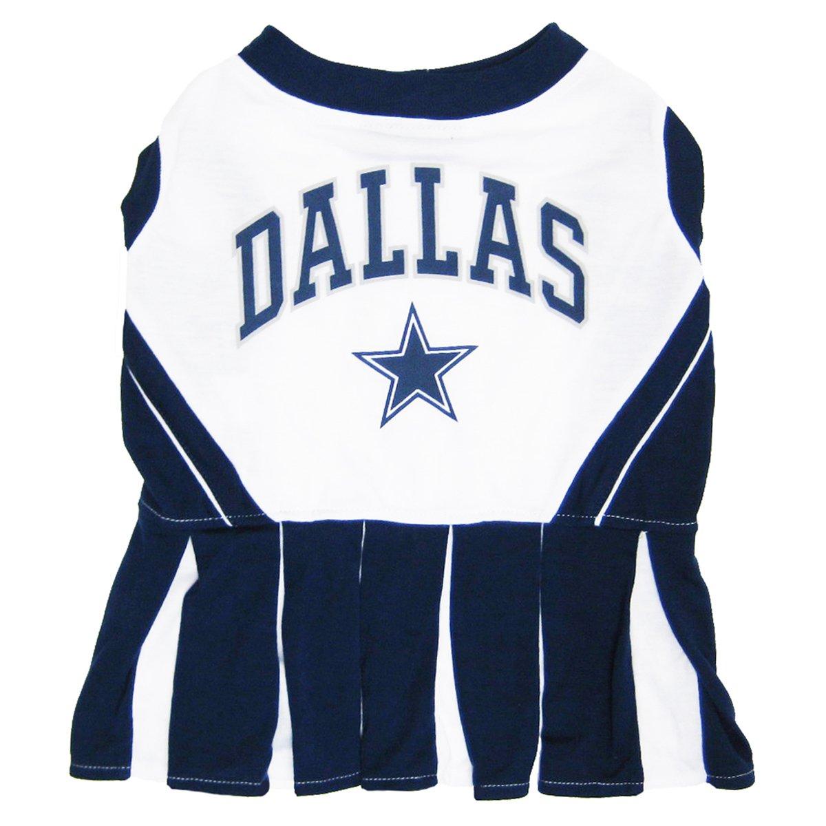 amazon com dallas cowboys nfl cheerleader dress for dogs size