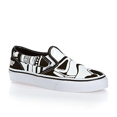 c138d364e7 Vans Kids Classic Star Wars Print Slip on Shoes-Storm Trooper-1.5