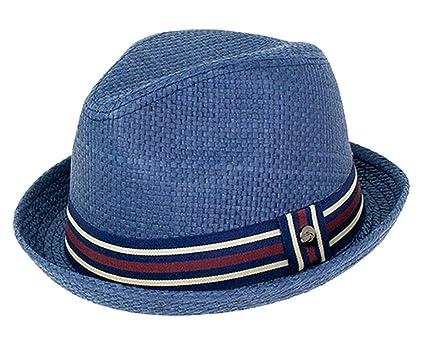 dfad9e22d68724 Peter Grimm Mens Navy Blue Depp Fedora Hat (S/M)