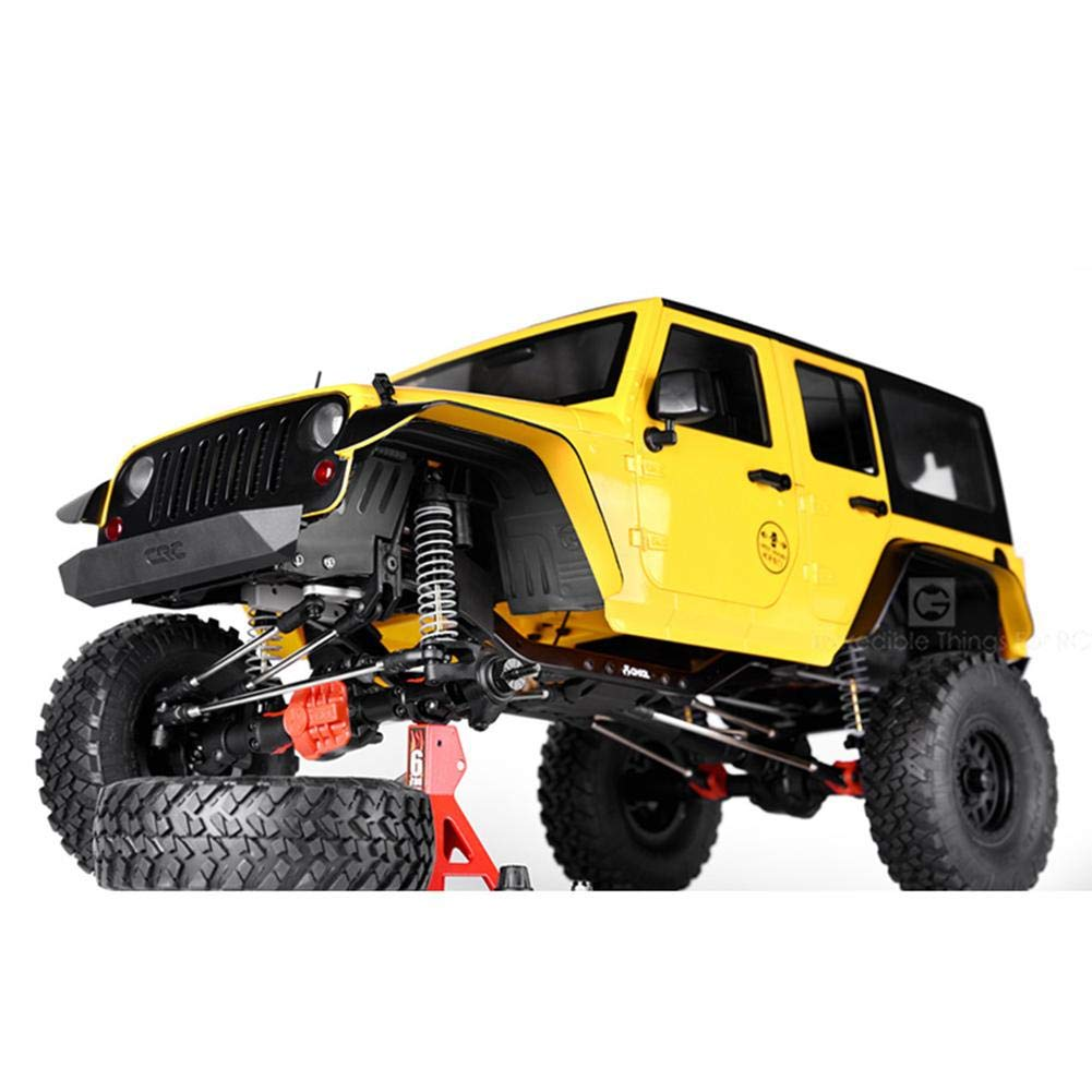 Assiduousic Front /& Rear Fenders for 1//10 RC Crawler Axial SCX10 II 90046 Smooth Plastic Black Remote Control Car Fender Flares with Mounting Screws 90047