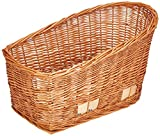Basil Pasja Rear Bicycle Pet Basket - Natural Wicker - Medium - 45cm