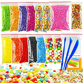 OPount 19 Pack Colorful Foam Balls Made of Styrofoam for