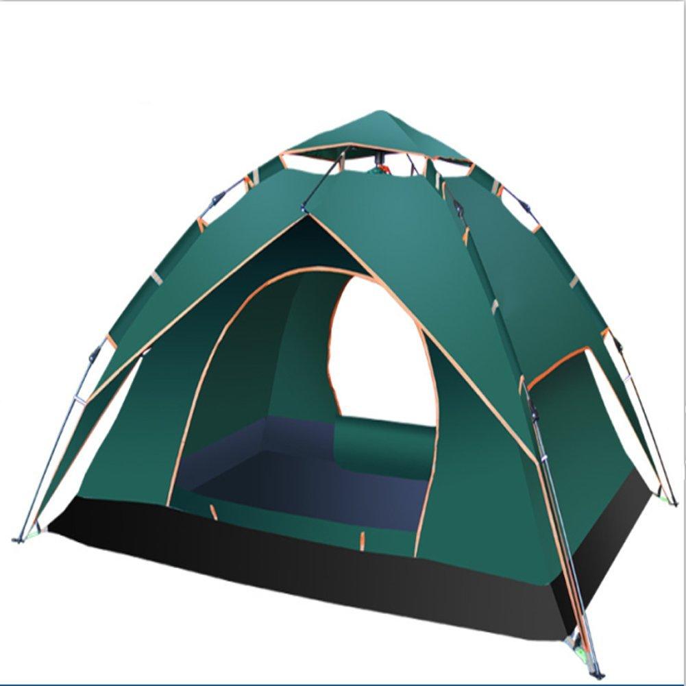 OOFAY Automatische Doppeltür Zelt 3-4 Personen Doppelfamilienzelt