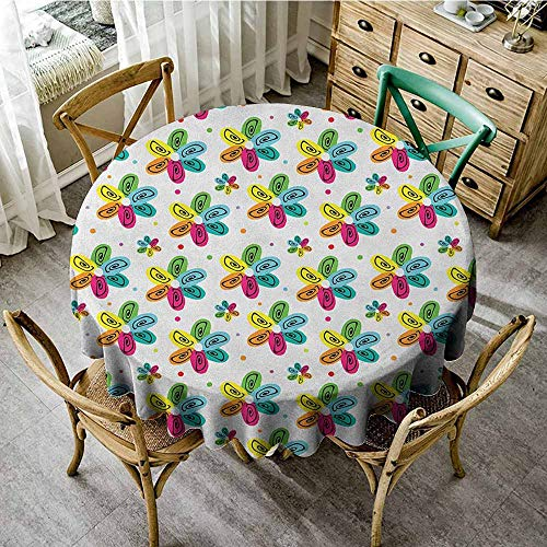 (round tablecloth for umbrella table 70