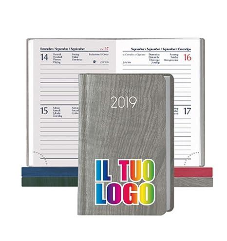 Mini Agenda 2019 bi-giornaliera de bolsillo personalizable ...