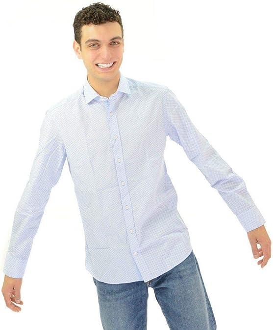 Camisa Hackett Diamante Azul y Blanca Hombre XXL Azul: Amazon.es: Zapatos y complementos