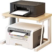 Print Racks Printer Shelf Creative Wooden Printer Shelf Office Desktop Shelf Double-Layer Multi-Functional Simple…