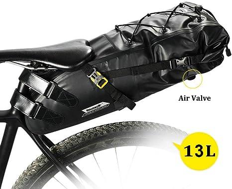 Wisdomx Rhinowalk Bolsa de sillín de Bicicleta 13L Bolsas de ...