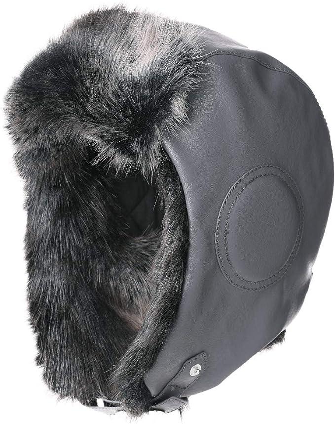 FancetHat Warme Unisex Fliegerm/ütze warme Winter Trapperm/ütze kunstfell 56-62cm