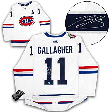 e4d61b663 Image Unavailable. Image not available for. Color  Brendan Gallagher Montreal  Canadiens Signed NHL 100 Adidas Authentic Jersey ...