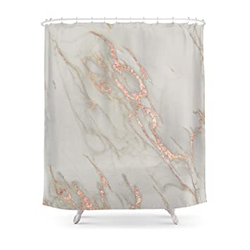 pink and gold shower curtain. Society6 Marble  Rose Gold Metallic Blush Pink Shower Curtain 71 quot Amazon com