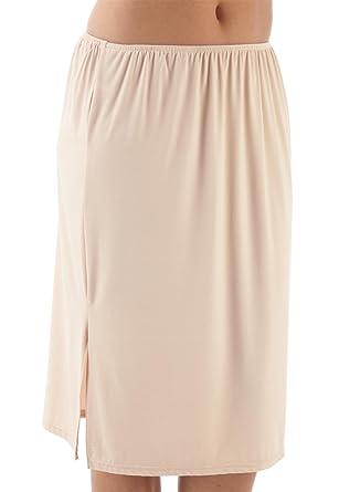 678826401 Ladies Waist/Underskirt Slip Black or Nude 23Inch Length (61cms):  Amazon.co.uk: Clothing
